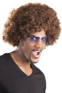 Afro-Perücke braun