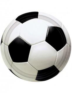Fussball Teller Set 8 Stück schwarz-weiss