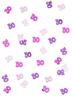 Konfetti 60. Geburtstag Party-Deko rosa-lila 14g