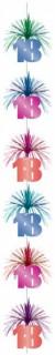 60. Geburtstag Hänge-Kaskade Girlande Party-Deko bunt 213cm