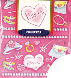 Prinzessin Party Sticker Set 100-teilig pink-bunt