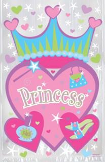 Geschenktütchen Princess Geschenk-Verpackung Kindergeburtstag bunt 21,6x22,3cm