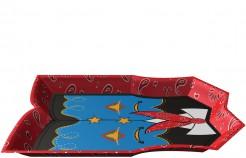 Wilder Westen Servierplatte Tischdeko bunt 25,5cm