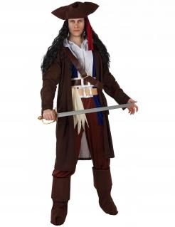 Verwegener Pirat Herrenkostüm braun-weiss