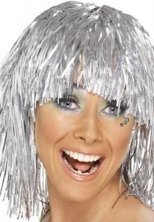 Disco Bob-Perücke silber