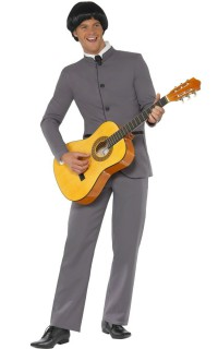 Pilzkopf Rockstar 60er Kostüm grau