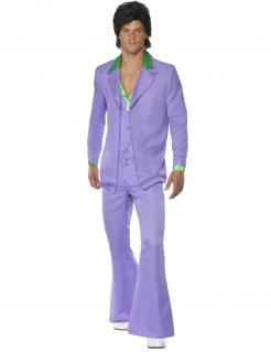 60er 70er Anzug Kostüm Disco flieder