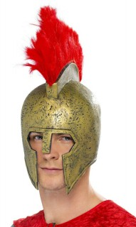 Gladiator Römer Krieger Helm gold-rot