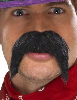 Mexikaner Banditen-Schnurrbart Kostüm-Accessoire schwarz