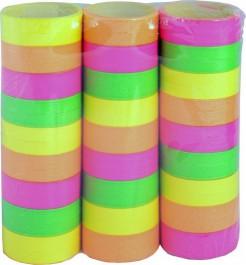 Luftschlangen Party-Zubehör 3 Stück fluoreszierend bunt 4m