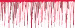 Blutige Wand Halloween Raum-Deko-Folie rot-weiss 762x30cm