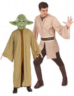 Jedi Und Yoda Star Wars™ Paarkostüm für Erwachsene braun