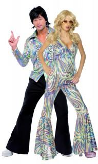 70er Jahre Disco-Paarkostüm - bunt