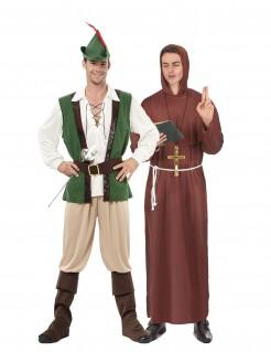 Waldmann und Mönch Erwachsenenkostüm grün und braun