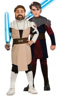 Star Wars™-Paarkostüm für Kinder Obi-Wan Kenobi™ und Anakin Skywalker™ bunt