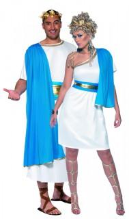 Römer-Paar - Kostüm für zwei Erwachsene weiß-blau
