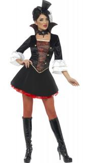 Steampunk Vampir-Prinzessin Damenkostüm schwarz-rot