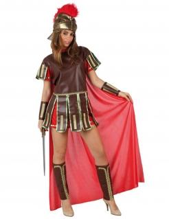 Römischer Zenturio-Damenkostüm Gladiator braun