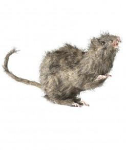 Ratte mit Fell Halloween-Deko Scherzartikel braun 15x6x8cm