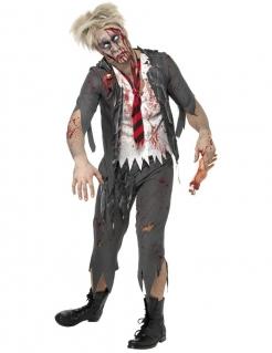 High School Horror Zombie-Schüler Kostüm grau