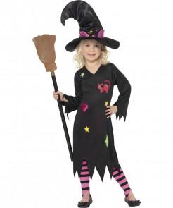Moor Hexe Zauberin Kinder-Kostüm schwarz