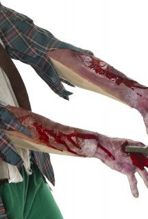 Narben und Schnittverletzungen Latex-Ärmel haut-rot