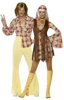 Hippie-Paarkostüm für Erwachsene