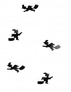 Tisch-Konfetti Fliegende Hexe Tischdeko schwarz 10 gr