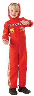 Cars 2 Mc Queen Rennfahrer-Kostüm für Kinder rot