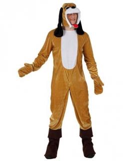 Hunde-Kostüm für Erwachsene hellbraun