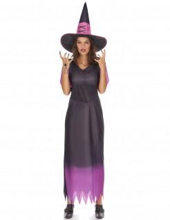 Klassische Hexe Damenkostüm Märchen schwarz-lila