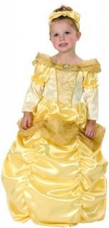 Prinzessin Kinderkostüm gelb-weiss