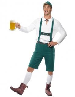 Bayer Oktoberfest Herrenkostüm grün-weiss