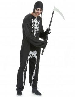 Halloween Skelett Knochen Kostüm schwarz-weiss