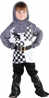 Kleiner Ritter Kinderkostüm Krieger silber-weiss-schwarz