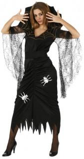 Spinne Damenkostüm schwarz-gold-weiss
