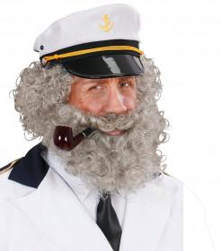 Lockiger Bart für einen Seemann