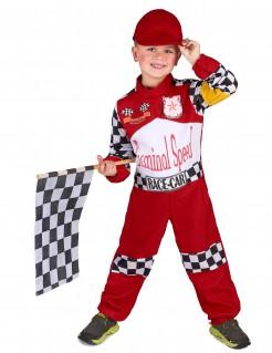 Rennfahrer-Kinderkostüm Motorsport rot-weiss-schwarz-gelb