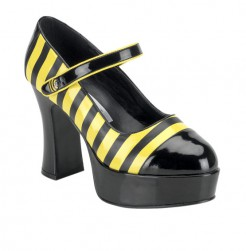 Bienchen Pumps Bienenkostüm-Accessoire schwarz-gelb