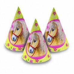 Partyhüte Pferde für Kinder 6 Stück