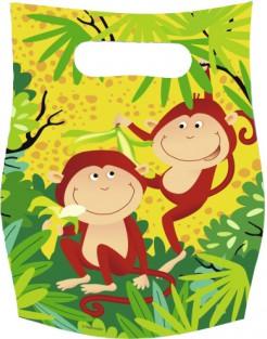 Partytüten Safari Kindergeburtstag-Deko 6 Stück bunt