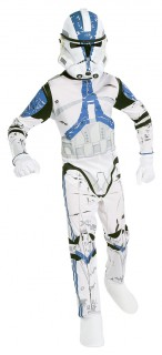Star Wars™-Kinderkostüm Clone Trooper Lizenzartikel weiss-blau-schwarz