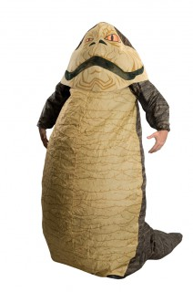 Jabba der Hutte™-Kostüm aufblasbar Star Wars™ Faschingskostüm beige-grau