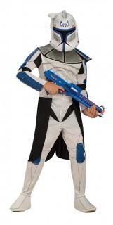 Star Wars Clonetrooper Captain Rex Kinder Kostüm Lizenzware weiss-blau-schwarz