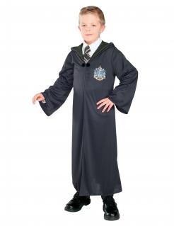 Slytherin-Robe Zaubererkostüm für Kinder Harry Potter™-Lizenzkostüm schwarz