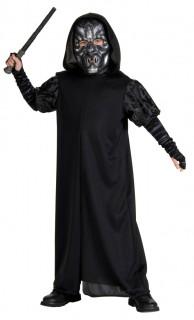 Death Eater-Kostüm für Kinder Harry Potter™-Lizenzkostüm schwarz