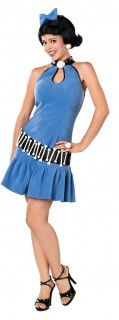 The Flintstones Betty Geröllheimer Damenkostüm blau-schwarz