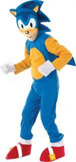 Sonic™-Kostüm für Kinder Faschingskostüm blau-gelb-rot