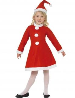 Weihnachtsfrau Kinderkostüm Weihnachten rot-weiss