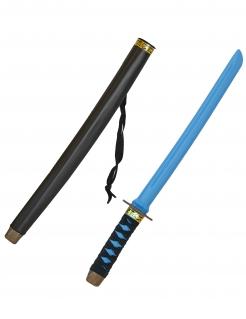 Katana Ninja-Schwert mit Scheide blau-schwarz